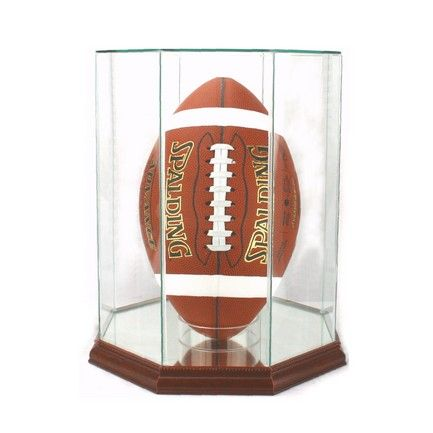 UPRIGHT FOOTBALL DISPLAY CASE